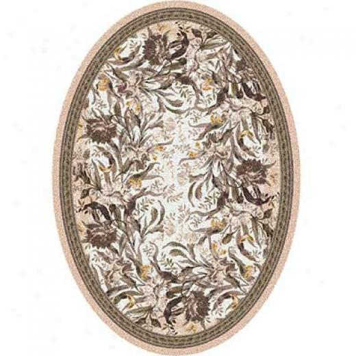 Milliken Barrington Court 4 X 5 Oval Ecru Area Rugs