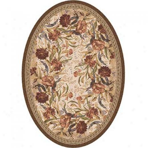Milliken Barribgton Court 8 X 11 Oval Cocoa Superficial contents Rugs