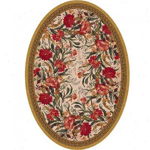 Milliken Barrington Court 8 X 11 Oval Curry Area Rugs