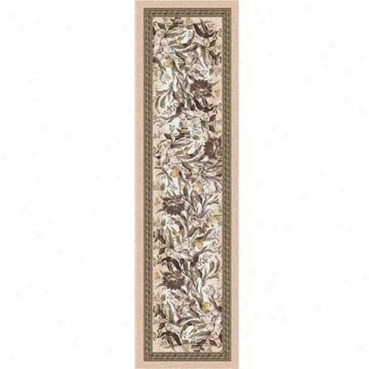 Milliken Barrington Courtyard 2 X 12 Runner Ecru Area Rugs