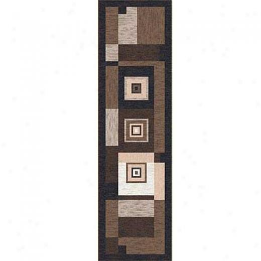 Milliken Bloques 2 X 16 Runner Brown Leather Area Rugs