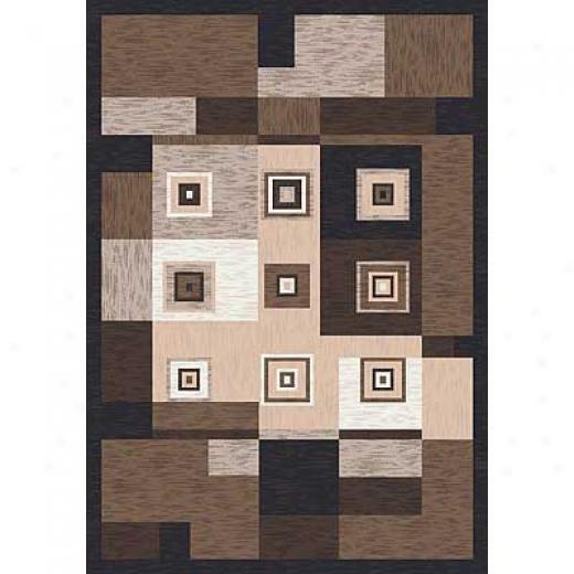 Milliken Blouqes 3 X 4 Brown Leather Area Rugs