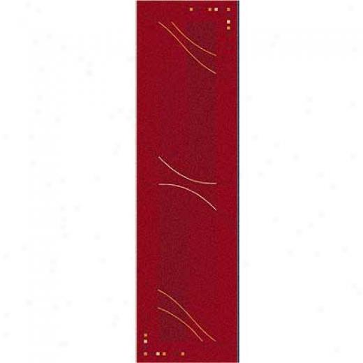 Milliken Caliente 2 X 16 Runner Rouge Area Rugs