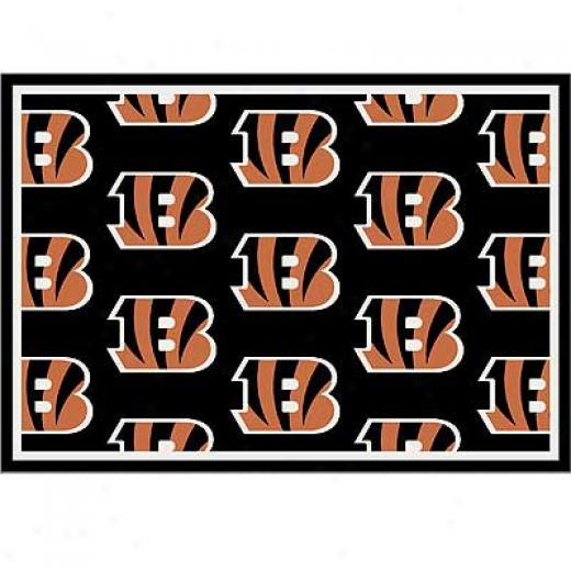 Milliken Cincinatti Bengals 5 X 8 Cincinnati Bengals Team Area Rugs