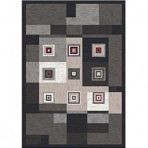 Milliken Cipher 8 X 11 Ebony Area Rugs