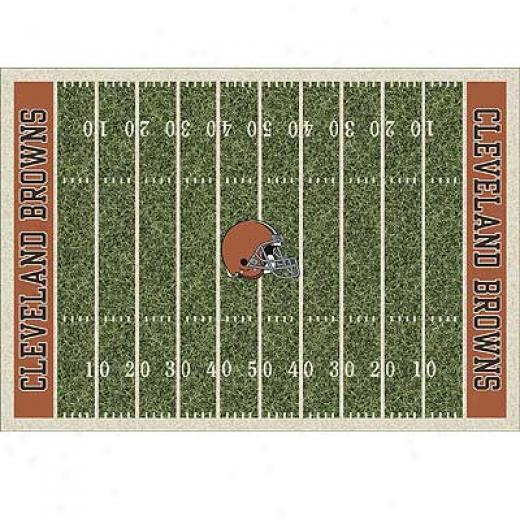 Milliken Cleveland Browns 11 X 13 Cleveland Browns Field Area Rugs