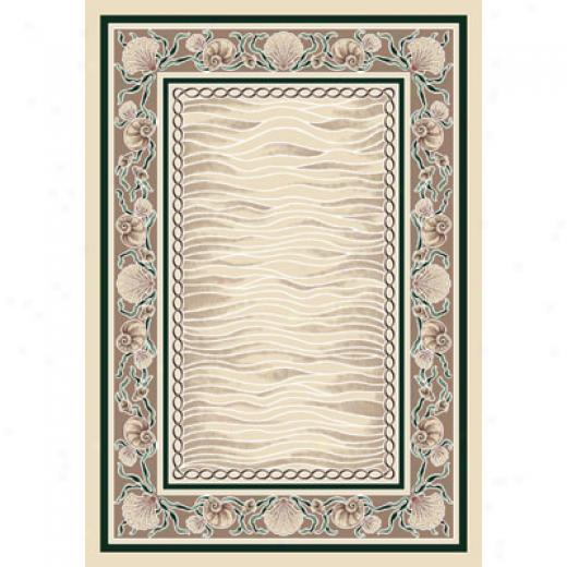 Millikken Coral Bark at 3 X 4 Opal Emerald Area Rugs