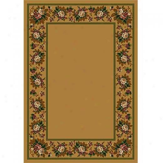 Milliken Floral Lace 8 X 11 Maize Ii Area Rugs