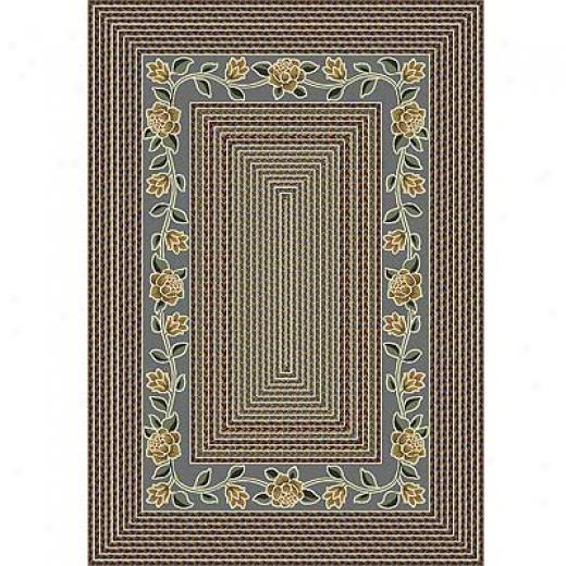 Milliken Floral Twist 8 X 11 Light Lapis Area Rugs