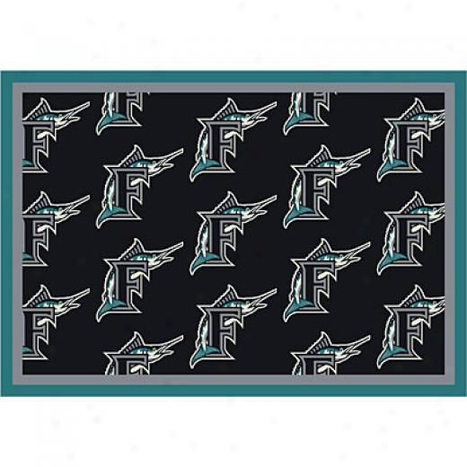 Milliken Florida Marlins 8 X 11 Florida Marlins Repeat Area Rugs
