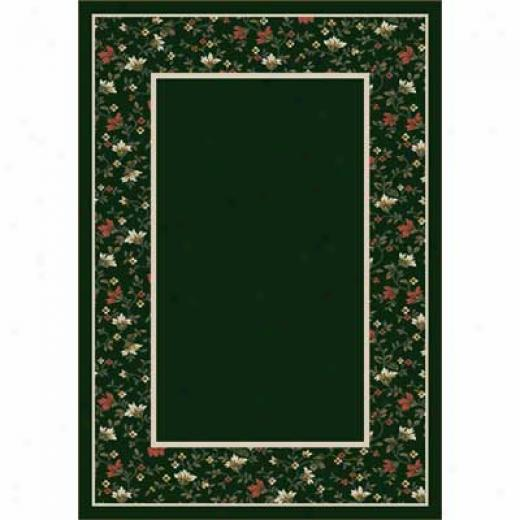 Milliken Garden Heavenly bliss 8 X 11 Emerald Area Rugs