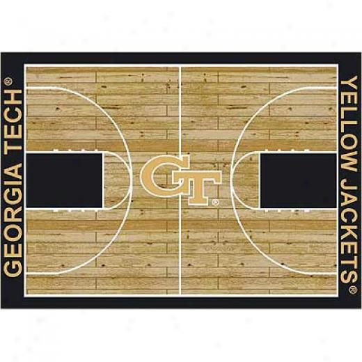 Milliken Georgia Tech Yellow Jackest 4 X 5 Georgia Tech Golden Jackets Area Rugs