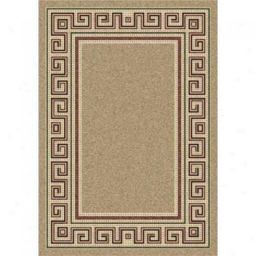 Milliken Greca 8 Round Light Pearl Fleck Antique Area Rugs