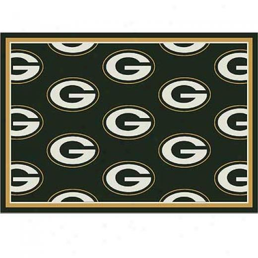 Milliken Green Bay Packers 8 X 11 Greenbay Packers Spirit Area Rugs