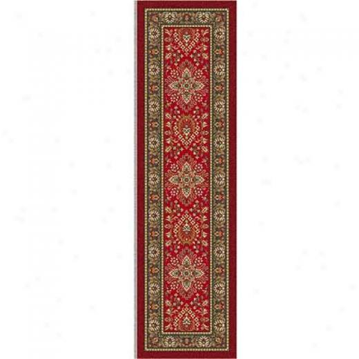Milliken Halkara 2 X 12 Runner Red Cinnamon Region Rugs