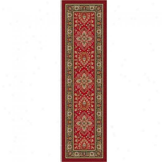 Milliken Halkara 2 X 16 Runner Red Cinnamoh Superficial contents Rugs