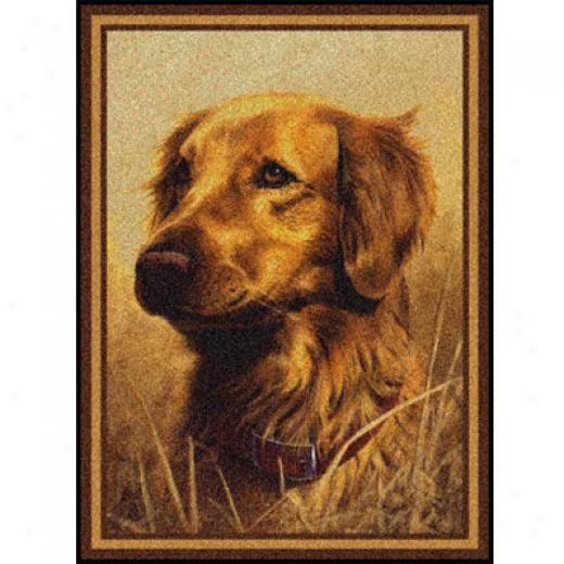 Milliken Hautman Collection 4 X 5 Golden Retriever Area Rugs