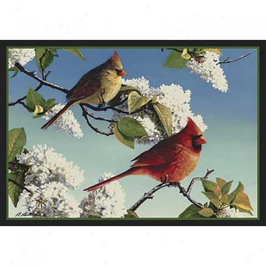 Milliken Hautman Collection 4 X 5 Cardinals Area Rugs