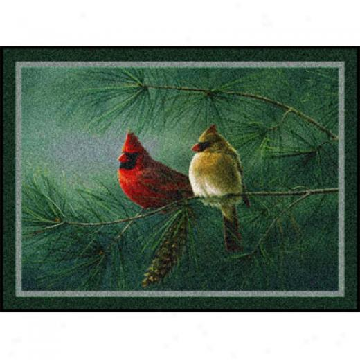 Millien Hautman Collection 4 X 5 Cardinals Pine Area Rugs