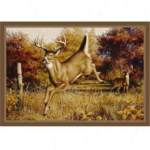 Milliken Hautman Collection 4 X 5 Leaping Deer Area Rugs