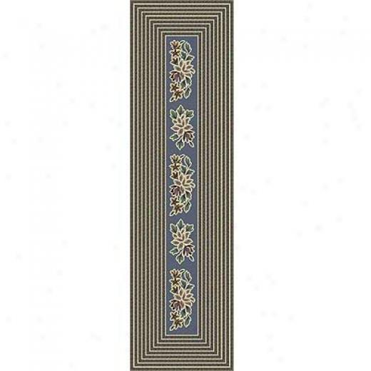 Milloken Hear5land Braid 2 X 8 Lapis Area Rugs