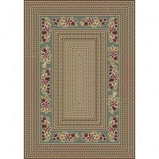 Milliken Heartland Braid 5 X 8 Sage Area Rugs