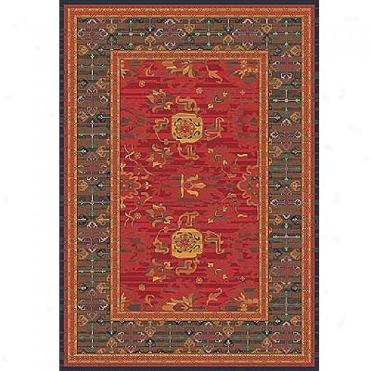 Milliken Karshi 3 X 4 Red Cinnamon Area Rugs