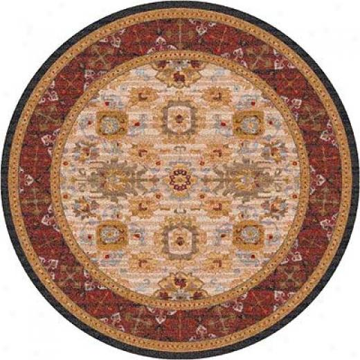 Milliken Karshi 8 Round Wheat Area Rugs