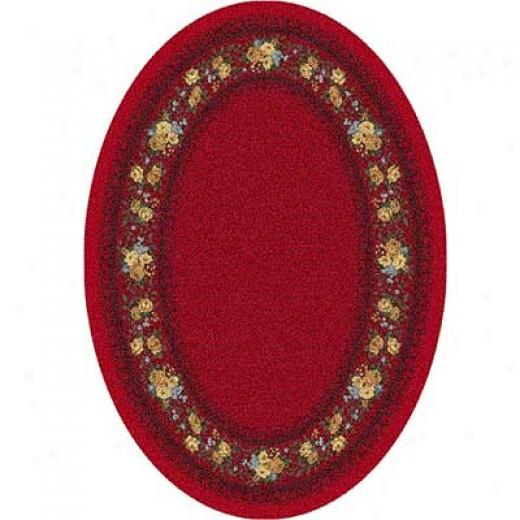 Milliken Kerri 4 X 5 Oval Currant Red Area Rugs