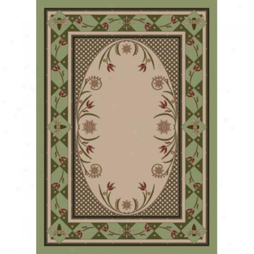 Milliken Kimberly 8 Round Light Celadon Area Rugs