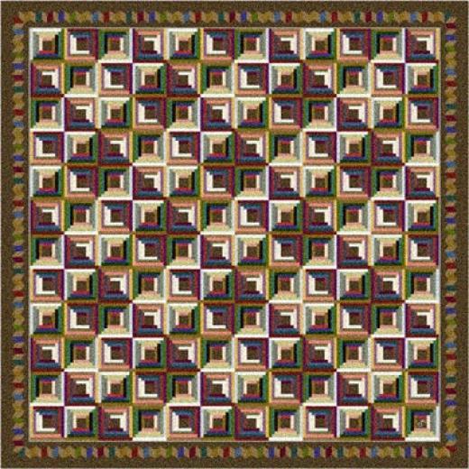 Milliken Log Cabin 7480/294 5 X 8 Oval Nutshell Area Rugs