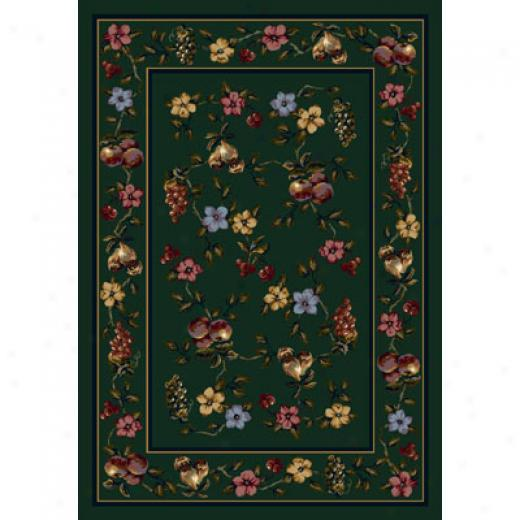 Milliken Lorelei 5 X 8 Emerald Area Rugs