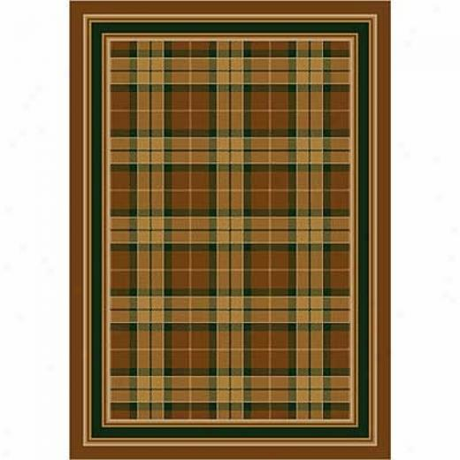 Milliken Magee Plaid 2 X 12 Runner Golden Amber Area Rugs