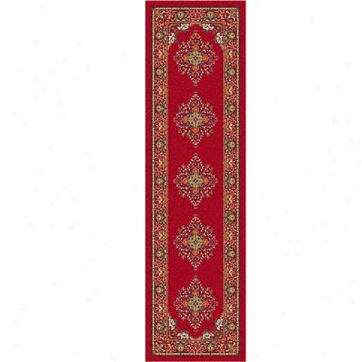 Milliken Merkez 2 X 8 Runner Currant Red Area Rugs