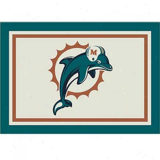 Milliken Miami Dolphins 11 X 13 Miami Dolphins Spirit Area Rugs
