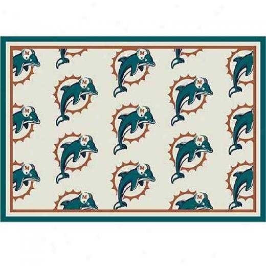 Milliken Miami Dolphins 8 X 11 Miami Dolphins Team Area Rugs