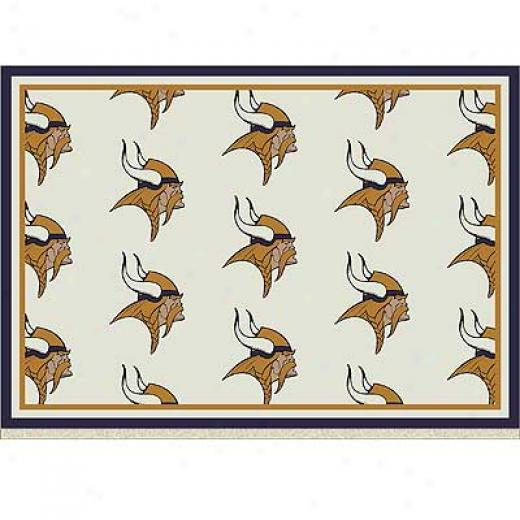 Milliken Minesota Vikings 8 X 11 Minnesota Vikings Team Area Rugs