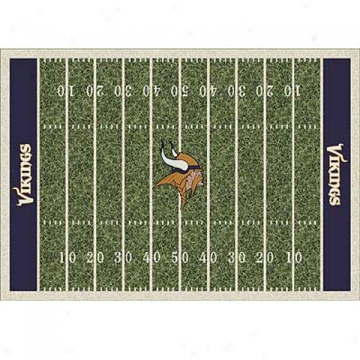 Milliken Minesota Vikings 8 X 11 Minnesota Vikings Field Area Rugs