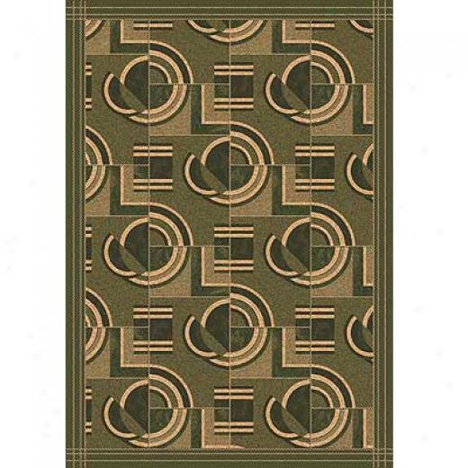 Milliken Modernes 11 X 13 Deep Olive Area Rugs