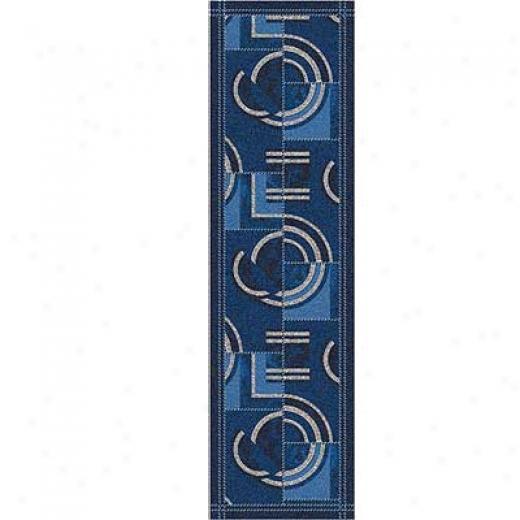 Milliken Modernes 2 X 16 Runner Phaantom Blue Area Rugs