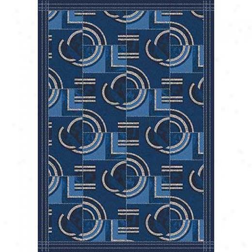 Milliken Modernes 3 X 4 Spectre Blue Area Rygs