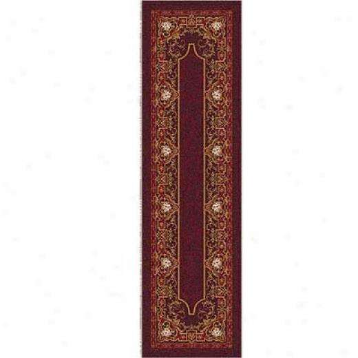 Milliken Montfleur 2 X 23 Runner Dark Cherry Area Rugs