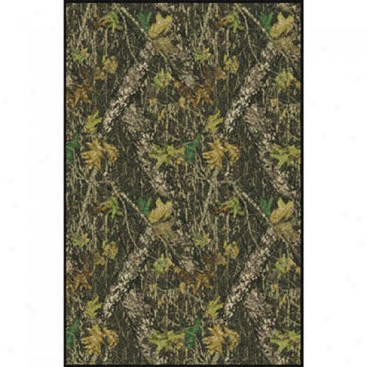 Milliken Mossy Oak Collection 5 X 8 Breakup Solid Border Area Rugs