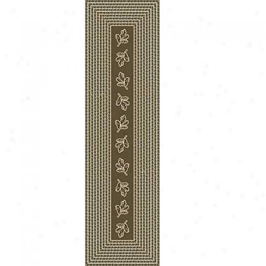 Milliken Oak Braid 2 X 8 Runner Khaki Area Rugs