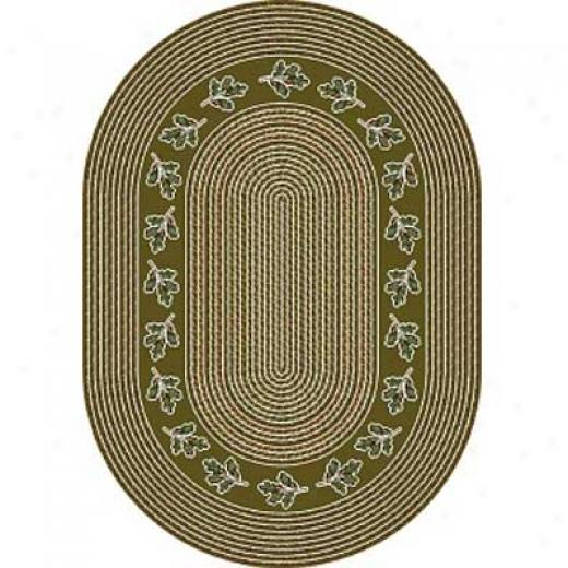Milliken Oak Braid 4 X 5 Oval Golden Amber Area Rugs