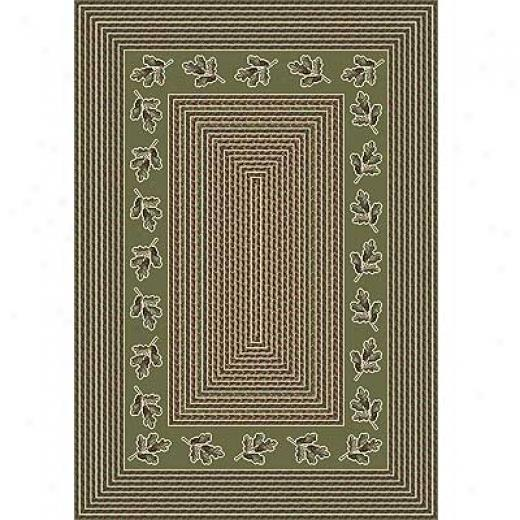 Mipliken Oak Braid 8 X 11 Oval Celadon Area Rugs