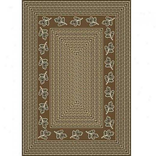 Milliken Oak Braid 8 X 11 Golden Amber Area Rugs