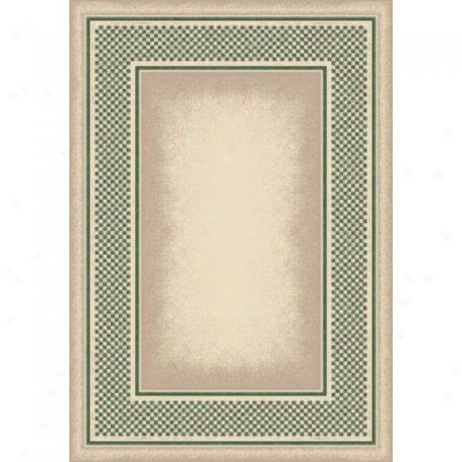 Milliken Old Gingham 8 Round Opal Peridot Area Rugs