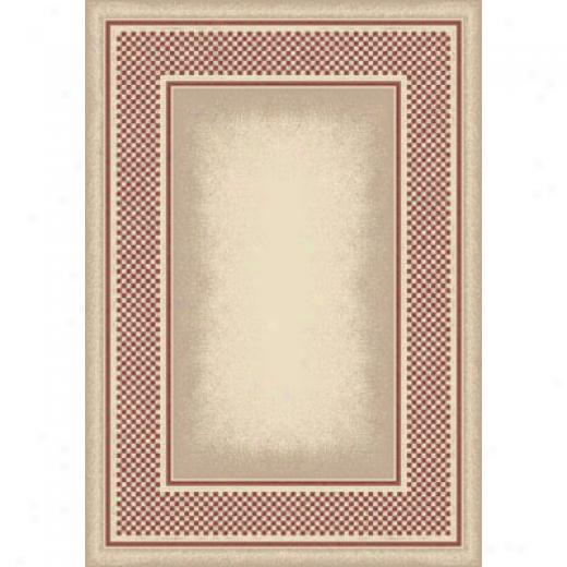 Milliken Old Gingham 8 X 11 Opal Rose Area Rugs