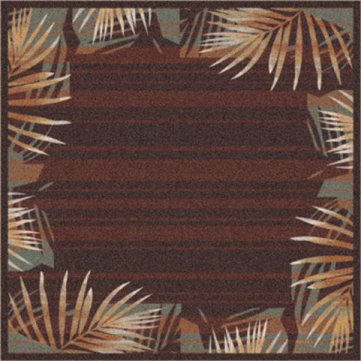 Mipliken Palm 8 Round Dar kChocolate Area Rugs